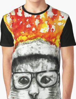 Kitty Geeking Graphic T-Shirt