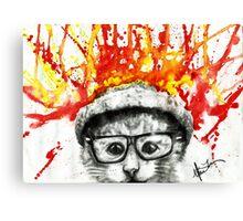 Kitty Geeking Canvas Print