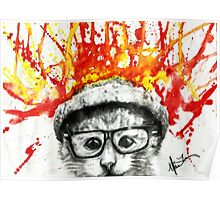 Kitty Geeking Poster