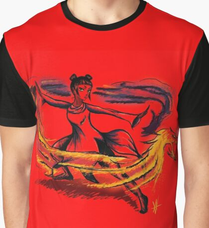 Dragon Bender- Digital Art Graphic T-Shirt