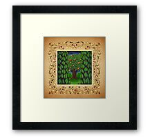 The Apple and Orange Tree Framed Print
