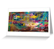 painting through abstraction  Greeting Card