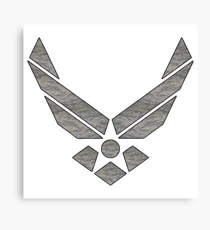 U.S. Air Force Logo Camo Canvas Print
