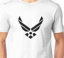 U.S. Air Force Logo Black Unisex T-Shirt