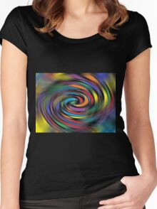 Colorful Vibrations Women's Fitted Scoop T-Shirt
