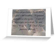 Outlander Wedding night Quote/Jamie & Claire Fraser Greeting Card