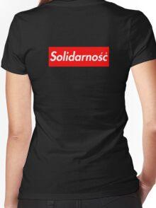 Solidarność Logo (Solidarity - Poland) Women's Fitted V-Neck T-Shirt
