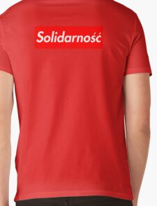 Solidarność Logo (Solidarity - Poland) Mens V-Neck T-Shirt