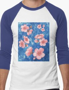 Pink Flowers for Baby Room Men's Baseball ¾ T-Shirt
