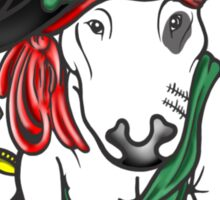 Pirate English Bull Terrier Sticker