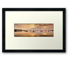 Koolewong Boats, New South Wales, Australia Framed Print