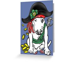 Pirate English Bull Terrier Greeting Card