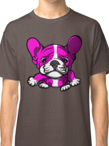 French Bull Terrier Cartoon Pink  Classic T-Shirt