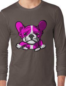 French Bull Terrier Cartoon Pink  Long Sleeve T-Shirt