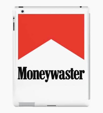 Moneywaster Funny Marlboro parody anti-smoking shirt  iPad Case/Skin