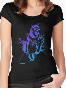 Surfer dog Funny Men's Tshirt Women's Fitted Scoop T-Shirt