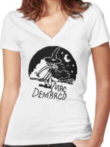 Mac Demarco fan club  Women's Fitted V-Neck T-Shirt