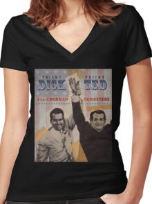 Dick & Ted Women's Fitted V-Neck T-Shirt