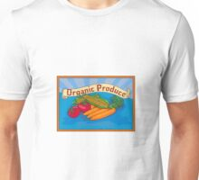 Organic Produce Crop Harvest Label Watercolor Unisex T-Shirt