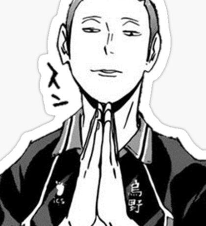 Tanaka Praying Sticker