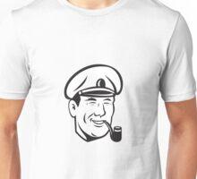 Sea Captain Smiling Smoke Pipe Retro Unisex T-Shirt