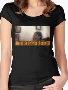 Triggered h3h3 Women's Fitted Scoop T-Shirt