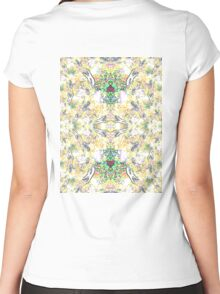 Fractal Yellow Wings Women's Fitted Scoop T-Shirt