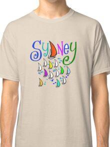 Sydney regatta design with stylish yachts Classic T-Shirt
