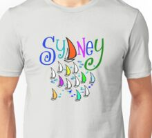 Sydney regatta design with stylish yachts Unisex T-Shirt