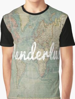 wanderlust on vintage map Graphic T-Shirt
