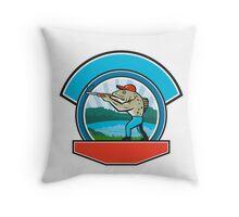 Sea Trout Hunter Shooting Circle Retro Throw Pillow
