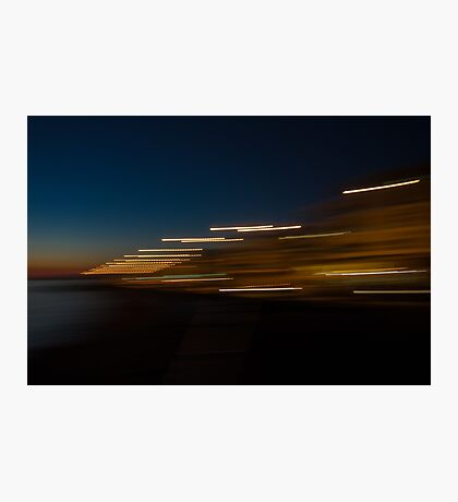 Sunset with lights Photographic Print