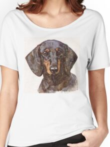 Dachshund Portrait Women's Relaxed Fit T-Shirt