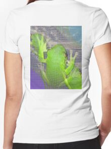 The Real Frogger Women's Fitted V-Neck T-Shirt