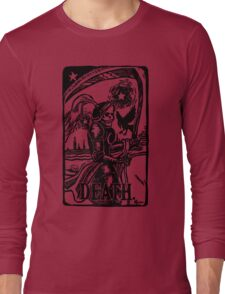 Tarot Death Card Funny Men's Tshirt Long Sleeve T-Shirt