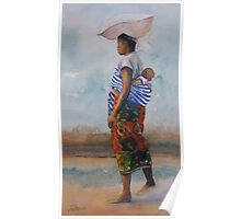 African Mother and Child Poster