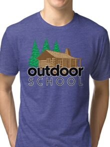 Outdoor School Cabin Tri-blend T-Shirt