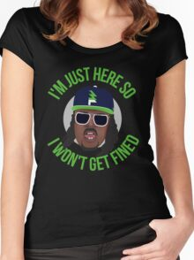 Marshawn Terrell Lynch : Beast Mode  Women's Fitted Scoop T-Shirt