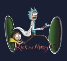 Rick End Morty - PORTAL One Piece - Short Sleeve