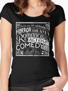 movies are like  Women's Fitted Scoop T-Shirt
