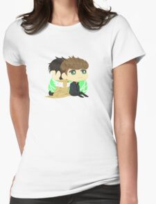 Dean to Cas Womens Fitted T-Shirt