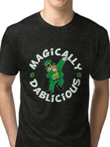 Dab Leprechaun Tri-blend T-Shirt