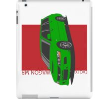 Mitsubishi Lancer Evolution IX Wagon MR (green) iPad Case/Skin