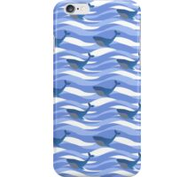 Pattern with whales iPhone Case/Skin