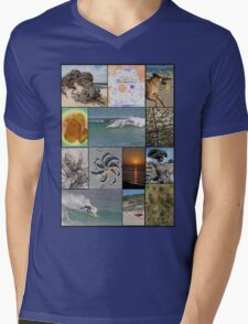 Collage Surf Tee Design Margaret River Western Australia Mens V-Neck T-Shirt