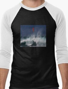 Let's go fly a surfboard on the North Shore. Men's Baseball ¾ T-Shirt