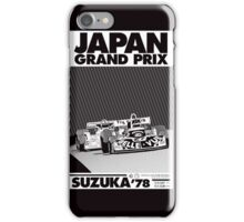 japan grand prix  iPhone Case/Skin