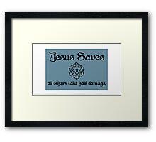 D&D Jesus Framed Print
