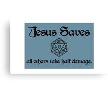 D&D Jesus Canvas Print