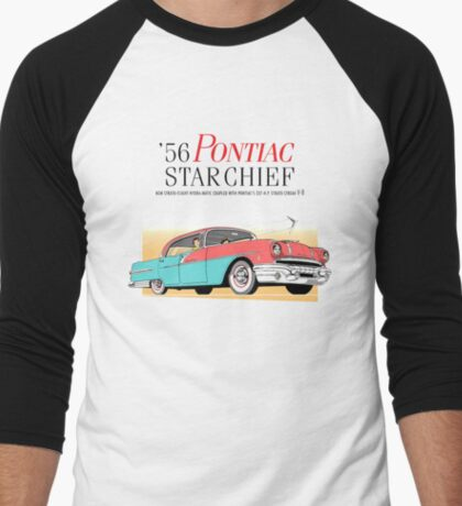 pontiac : starchief '56 Men's Baseball ¾ T-Shirt